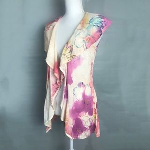 Anthropologie Sparrow Cardigan watercolor floral